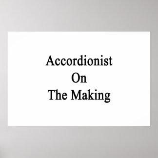 Accordionist On The Making Print