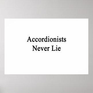Accordionists Never Lie. Print