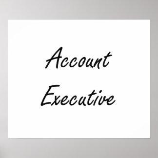Account Executive Artistic Job Design Poster