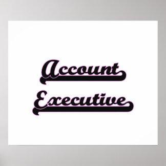Account Executive Classic Job Design Poster