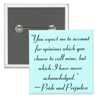 Account for Opinions Jane Austen Quote 15 Cm Square Badge