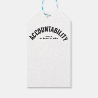 Accountability Should Be An American Value Gift Tags