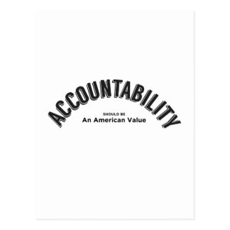 Accountability Should Be An American Value Postcard