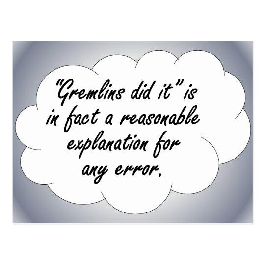 Accountability: The next time an error occurs Postcard