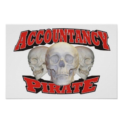 Accountancy Pirate Poster