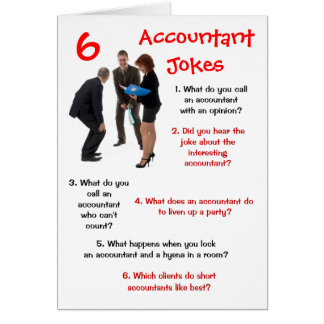 Accountant - 6 Accountant Jokes Funny Bithday Card