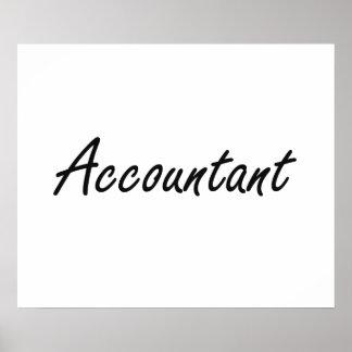 Accountant Artistic Job Design Poster