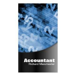 Accountant Business Card Black & Blue Numbers