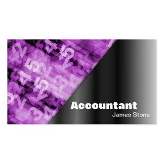 Accountant Business Card Black & Pink Numbers