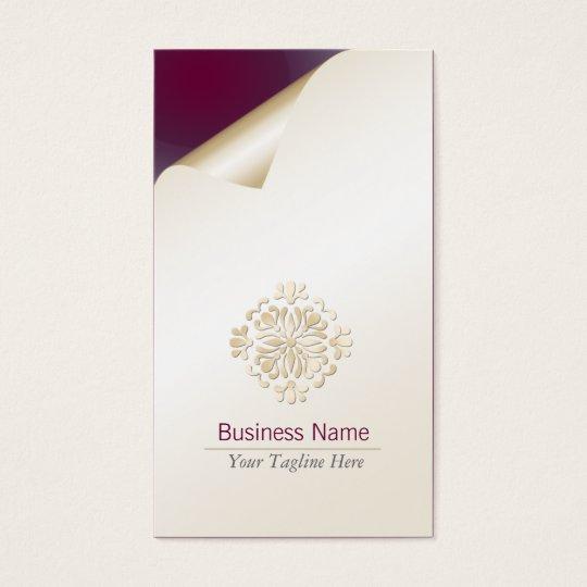 Accountant Business Card Gold Floral Flourish