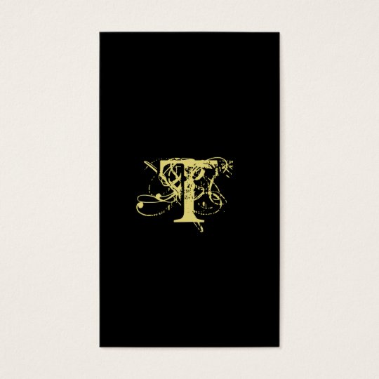 Accountant Business Card Monogram Black Gold
