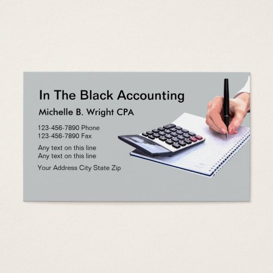 Accountant Business Cards Template