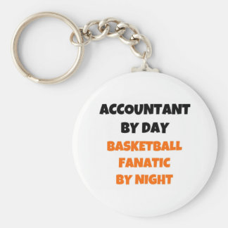 Accountant by Day Basketball Fanatic by Night Key Ring