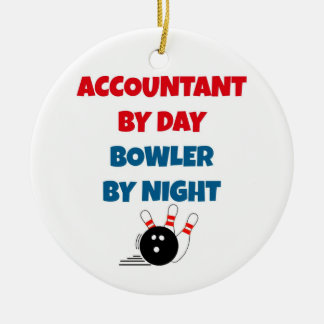 Accountant by Day Bowler by Night Christmas Ornament