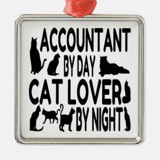 Accountant by Day Cat Lover by Night Christmas Ornament