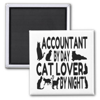 Accountant by Day Cat Lover by Night Square Magnet