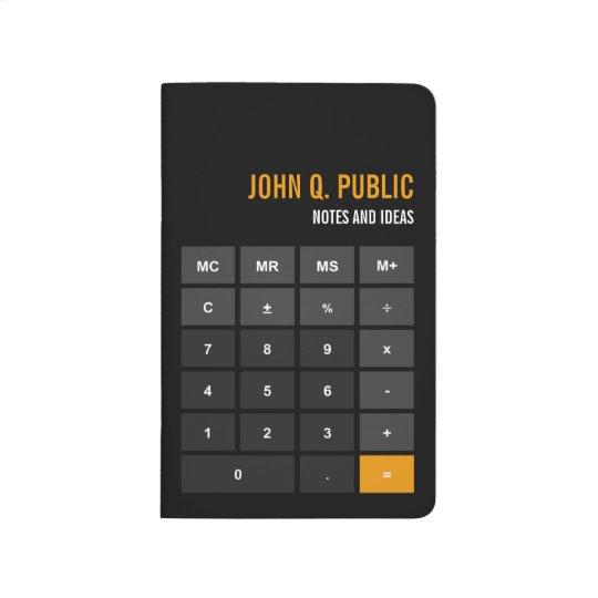 Accountant Calculator Black Flat Design Journal