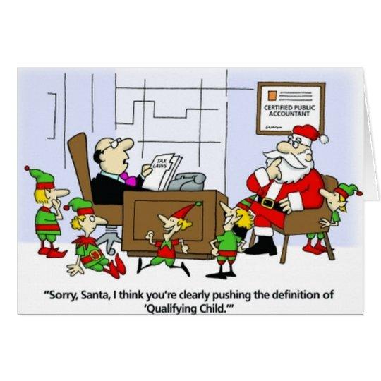Accountant Card, Santa Declares Elves Christmas Card