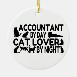 Accountant Cat Lover Christmas Ornament