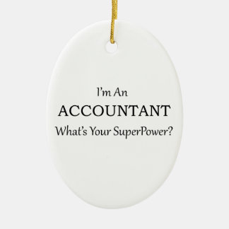 Accountant Ceramic Oval Decoration