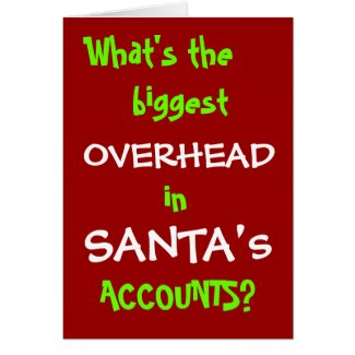 Accountant Christmas Card - Joke - Personalisable