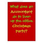 Accountant Christmas Cruel & Funny Christmas Joke Greeting Card