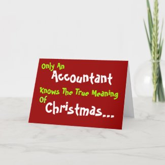 Accountant Christmas - Funny Christmas Message