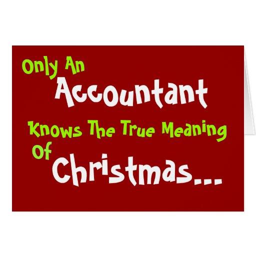 Accountant Christmas Humor Add Caption and Message Card