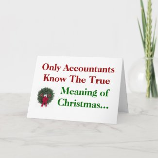 Accountant Christmas Meaning Funny Quote Joke Pun