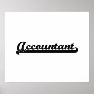 Accountant Classic Job Design Poster