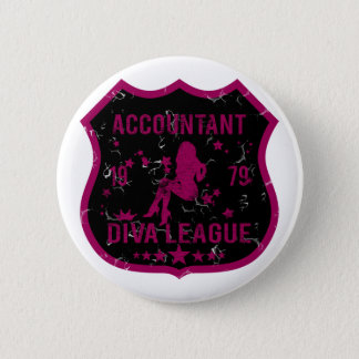 Accountant Diva League 6 Cm Round Badge