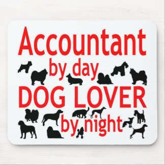 Accountant Dog Lover Mouse Mat