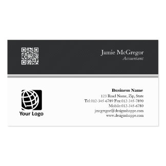 Accountant Financial Services Simple Black White Pack Of Standard Business Cards