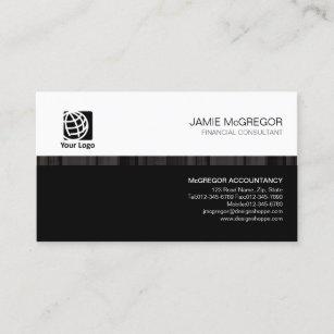 Financial services business cards zazzle uk accountant financial services simple stripe black business card colourmoves