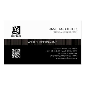 Accountant Financial Services Simple Stripe Black Pack Of Standard Business Cards