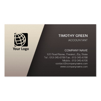 Accountant Financial Services Simple White Black Pack Of Standard Business Cards