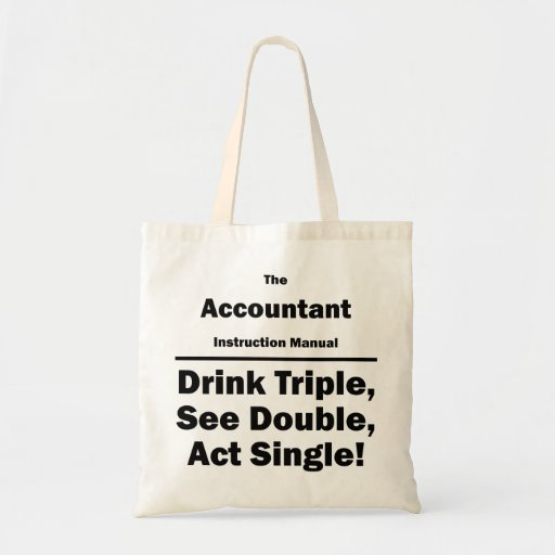 accountant instructional manual canvas bags