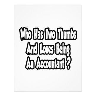Accountant Joke Two Thumbs Personalized Flyer