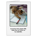 Accountant Kitty Greeting Card