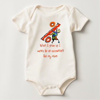 Accountant like Mom baby shirt
