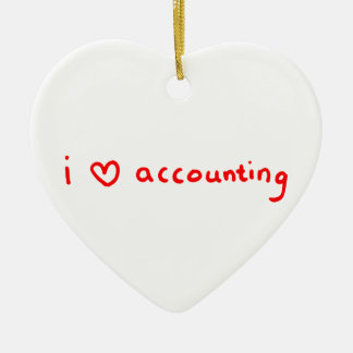 Accountant Ornament - I Love Accounting