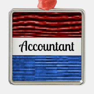 Accountant Patriotic Christmas Ornament
