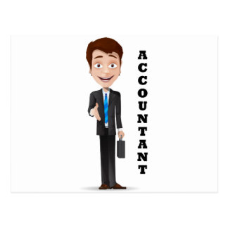 """Accountant"" Postcard"