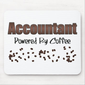 Accountant Powered By Coffee Mouse Pad
