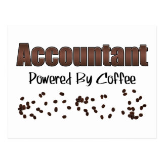 Accountant Powered By Coffee Postcard