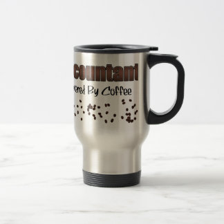 Accountant Powered By Coffee Stainless Steel Travel Mug