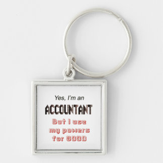 Accountant Powers Funny Office Humor Saying Key Ring