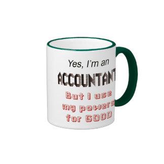Accountant Powers Funny Office Humor Saying Ringer Mug