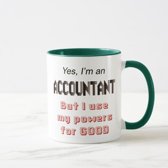 Accountant Powers Funny Office Humour Saying Mug