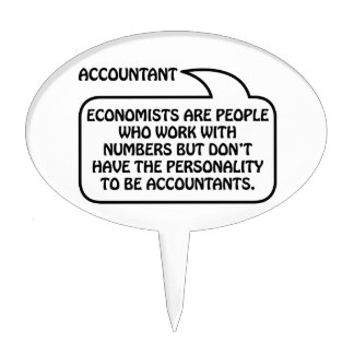 Accountant Quote Bubble Cake Pick